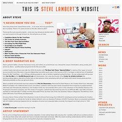 Steve Lambert | About Steve