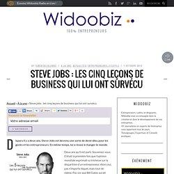 Steve jobs : les cinq leçons de business qui lui ont survécu