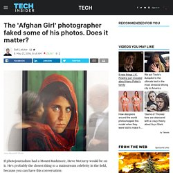 Steve McCurry photo editing scandal