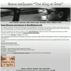 Steve McQueen un-official website