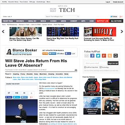 Will Steve Jobs Return From His Leave Of Absence?