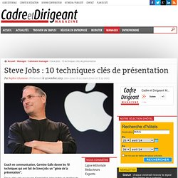Steve Jobs : 10 techniques clés de présentation