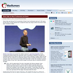 Steve Jobs on Mock Turtlenecks and Jeans