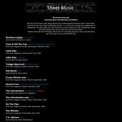 com: Sheet Music