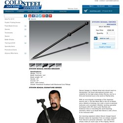 Steven Seagal Sword Breaker - Cold Steel Knives : Martial Arts Weapons