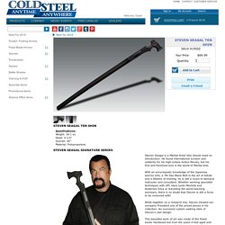 Steven Seagal Ten Shin - Cold Steel Knives : Walking Stick