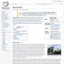 Steven Holl - Wikipedia, the free encyclopedia - Waterfox