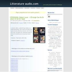 STEVENSON, Robert Louis – L'Étrange cas du Dr Jekyll et de Mr Hyde
