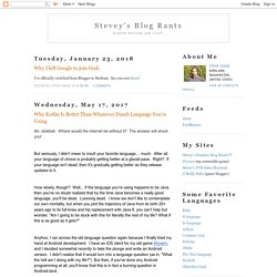 Stevey's Blog Rants