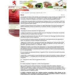 LUXEMBOURG 05/12/11 Edulcorant glycosides de stéviol - Etiquetage et publicité