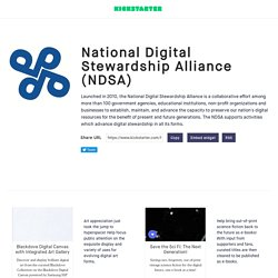National Digital Stewardship Alliance (NDSA)