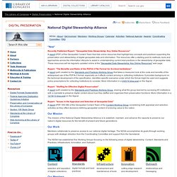 National Digital Stewardship Alliance