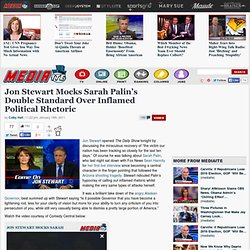 Jon Stewart Mocks Sarah Palin | Jon Stewart on Palin on Hannity | Video