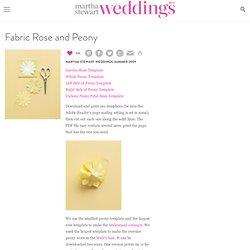 Fabric Rose and Peony