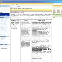 STGCFE : programmes STMG