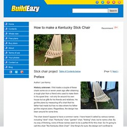 Stick chair project page 1