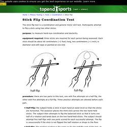 Stick Flip Coordination Test