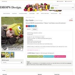"""Eye Smile / DROPS Extra 0-932 - Stickad DROPS monstermössa i """"Alpaca"""" med ögon, mun och antenner - Gratis mönster från DROPS Design"""
