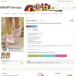 """Way of Roses / DROPS 167-31 - Stickade DROPS tofflor i """"Eskimo"""" med rätstickning. Stl 35-42. - Gratis mönster från DROPS Design"""