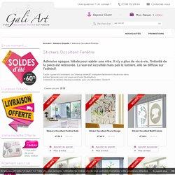 Sticker Occultant fenêtre - Sticker Sablé - décoration opaque dépoli - sticker brise-vue - Gali Art
