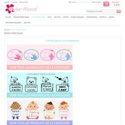 Sticker bébé à bord personnalisé avec le prénom de votre enfant