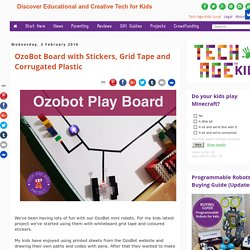 OzoBot Board with Stickers, Grid Tape and Corrugated Plastic