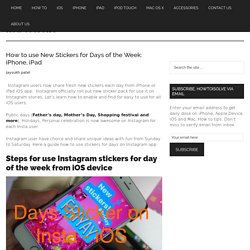 How to use New Stickers for Days of the Week: iPhone, iPad