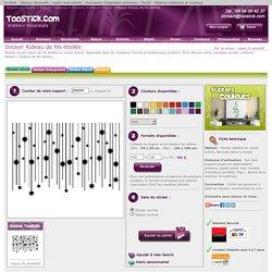 Stickers Rideau de fils étoilée : stickers décoratifs Toostick