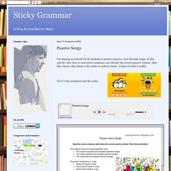 Sticky Grammar: Passive Songs
