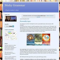 Sticky Grammar: Personality types