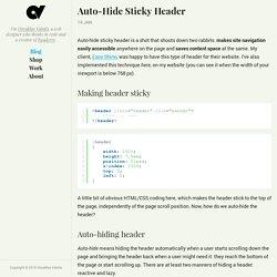 Auto-Hide Sticky Header