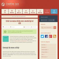 Créer un menu sticky avec JavaScript et CSS - CSS / CSS3