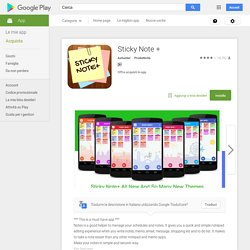 Sticky Note + - App Android su Google Play