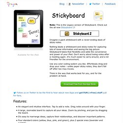 Stickyboard for the iPad by qrayon