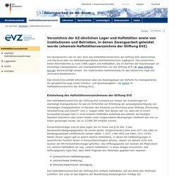 Haftstättenverzeichnis der Stiftung EVZ