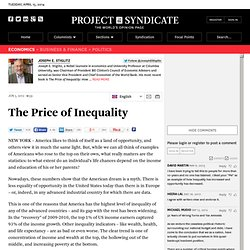 """The Price of Inequality"" by Joseph E. Stiglitz"