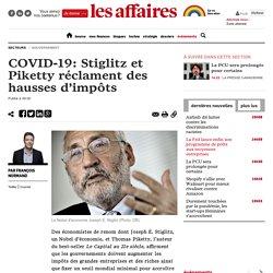 COVID-19: Stiglitz et Piketty réclament des hausses d'impôts