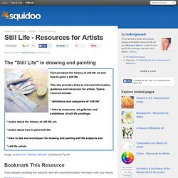 Still Life - Resources for Artists