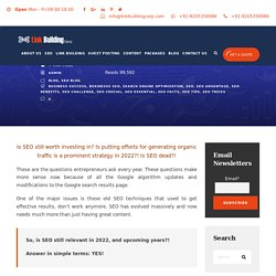 Know Is SEO Services Relevant?