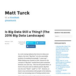 Is Big Data Still a Thing? (The 2016 Big Data Landscape) – Matt Turck