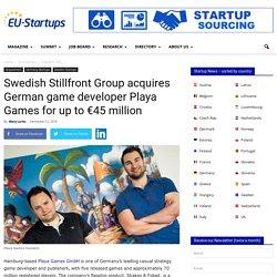 Swedish Stillfront Group acquires German game developer Playa Games for up to €45 million