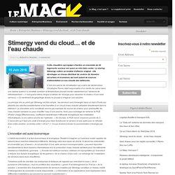 Stimergy vend du cloud… et de l'eau chaude