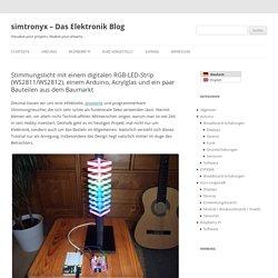 Stimmungslicht mit einem digitalen RGB-LED-Strip (WS2811/WS2812), einem Arduino, Acrylglas und ein paar Bauteilen aus dem Baumarkt - simtronyx - Das Elektronik Blog