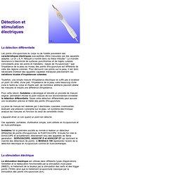 Détecteurs et Stimulateurs électriques