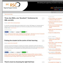 Jisc Regional Support Centres Blog - Stimulating and supporting innovation in learning