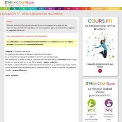 Cours de SVT 4e - De la stimulation au mouvement