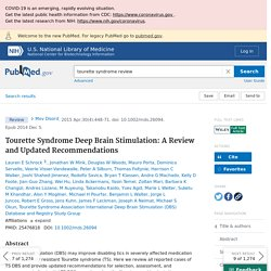 Tourette Syndrome Deep Brain Stimulation: A Review and Updated Recommendations - PubMed