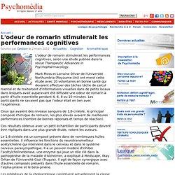 L'odeur de romarin stimulerait les performances cognitives