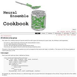 Brian/StimulusArrayGroup - NeuralEnsemble Cookbook - Trac