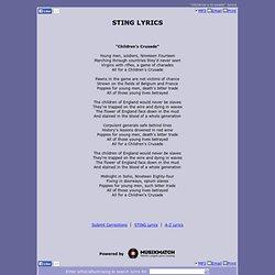 STING LYRICS - Children's Crusade